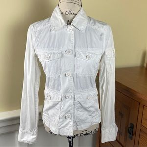 J.Crew Classy Four Front Pockets White Jacket